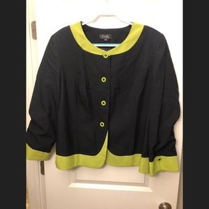 Navy and Lime Green Blazer